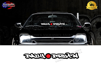 Daily Driven Windshield Banner Decal Sticker Graphic