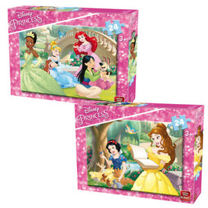 Disney Princess Jigsaw Puzzle Childrens 24 Piece Puzzles Choice of Two Designs