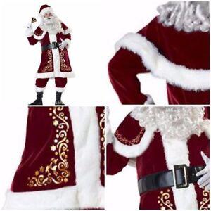 Déguisement Complet de Père Noël de luxe Homme en Velour adulte - 10 ... 5fa19101f3c9