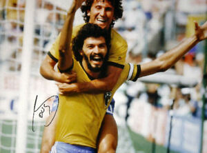 SOCRATES SIGNED BRAZIL v ITALY 16x12 FIFA FOOTBALL WORLD CUP ZICO PHOTO PROOF