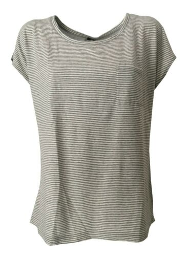 Gris Coton Made blanc Italy In Aspesi Gris T À Derrière Rayures 100 shirt zwv4UqxHA0