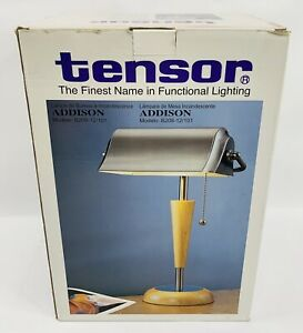 Vintage 1990's TENSOR Addison Desk Lamp With Wooden Accents New In Box RARE