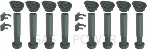 Socle pieds 140 mm-réglable 180 mm Meuble Cuisine Carcasse unité de base jambes x2