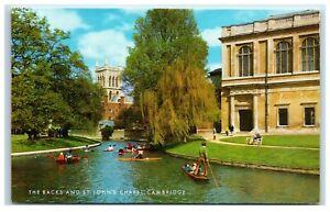 Postcard Cambridge The Backs and St John's Chapel