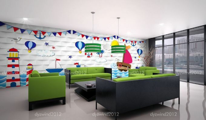 3D Ocean Boat Balloon 75 Paper Wall Print Decal Wall Wall Murals AJ WALLPAPER GB