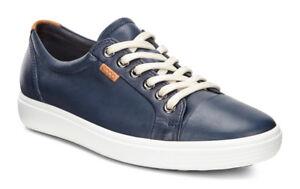 9fd4b679f671a5 Das Bild wird geladen Ecco-Schuhe-Schnuerschuhe-Sneaker-Soft-7-Ladies-blau-
