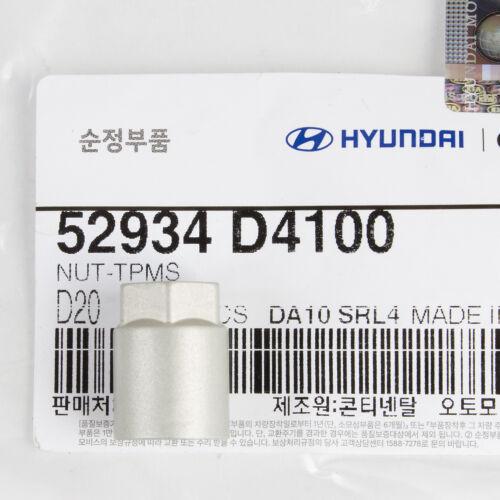 Genuine OEM Hyundai Kia TPMS Tire Pressure Sensor Valve /& NUT 52933-B1100 4 PC