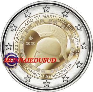 2-Euro-Commemorative-Grece-2020-Bataille-de-Thermopyle-UNC-NEUVE