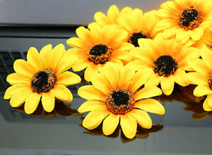 Free shipping 100pcs 7cm diy sunflower head artificial silk flower image is loading free shipping 100pcs 7cm diy sunflower head artificial mightylinksfo