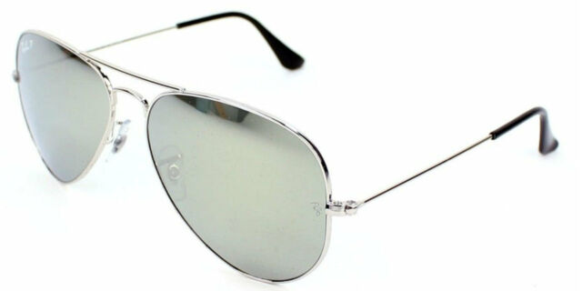 592bae407 Ray-Ban Aviator Gradient Mirror Silver Metal Sunglasses RB3025 003/59  Authentic