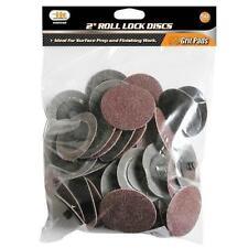 "IIT 50pc 80 Grit 2"" Type R Roll Lock Discs Pads Sanding Roloc Abrasives 82039"