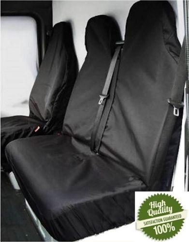 FORD TRANSIT VAN MK8 2014 on Black Van Seat Covers protectors 100/% WATERPROOF