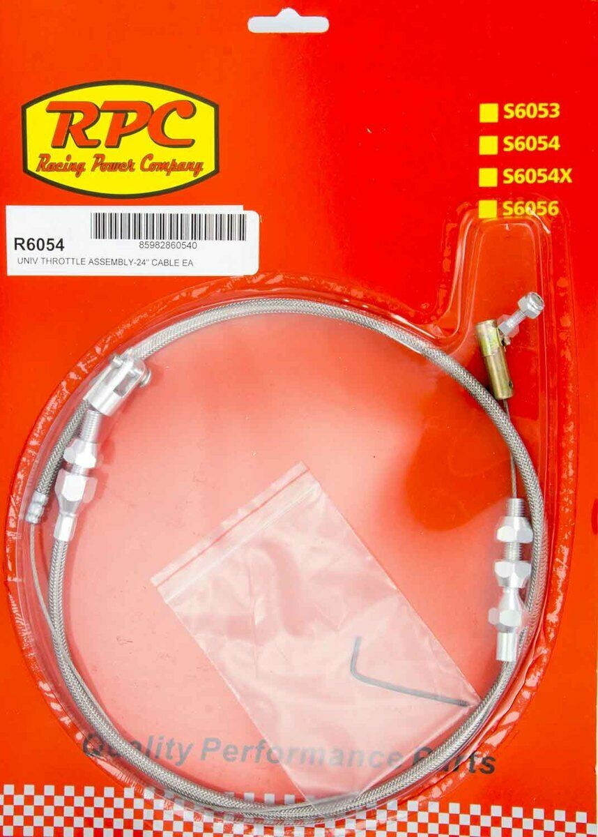 """RACING POWER COMPANY R6054 Universal Throttle Assembly 24/"""" Housing With Cable"""