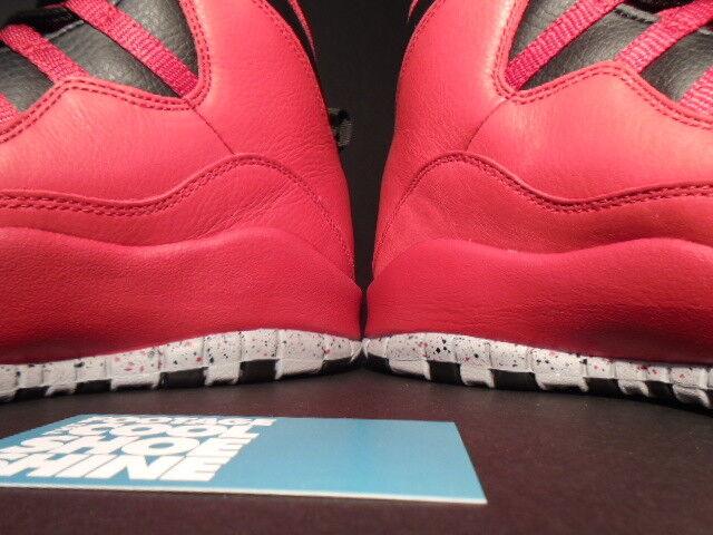 7b4b9efc044b9e ... Nike Air Jordan X 10 10 10 Retro 30TH BULLS OVER BROADWAY RED BLACK  WOLF GREY ...