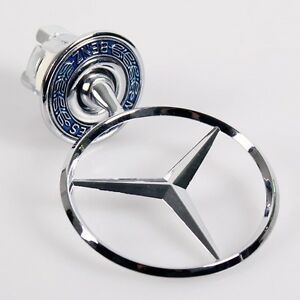 36mm mercedes benz badge w126 logo bonnet emblem hood ebay for Mercedes benz trunk emblem