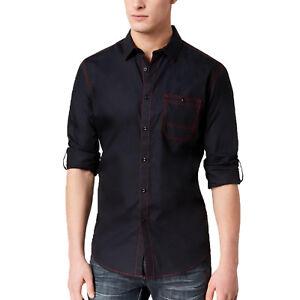 INC International Concepts Mens Embroidered Bengal Tiger Shirt