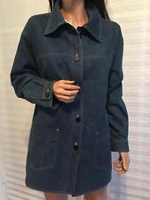 Authentic CHANEL '99 C Blue Jeans CC Logo Jacket Coat sz 40