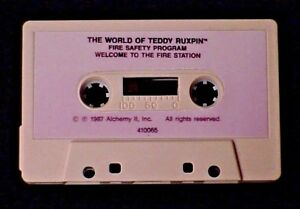 TEDDY-RUXPIN-FIRE-SAFETY-PROGRAM-LESSON-AUDIO-TAPE-1986-WORLDS-OF-WONDER