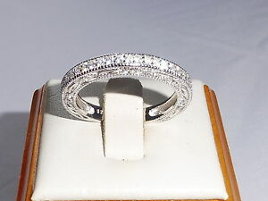 Ladies-Hallmark-925-Sterling-Silver-Solid-White-Sapphire-Full-Eternity-Ring