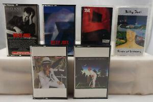 Greatest Hits 1 & 2 Elton John & Billy Joel + Vintage Rock Cassette Tape Lot x 6