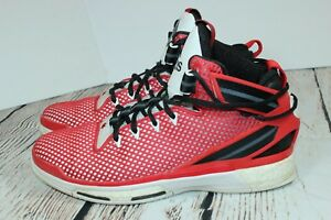 RARE adidas D Rose 6 BULLS ~ HOME EDITION ~ Size 9.5 Red FITFRAME G2 ... d1d190c1d5d2
