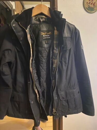 Barbour x Land Rover Waxed Wax Hooded Jacket Black