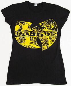9ea75d4c1ad2d WU TANG CLAN T-shirt Rap Hip Hop Gza Rza ODB Women JUNIOR S-XL Black ...
