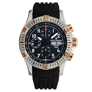 Revue Thommen Men's Airspeed Black Dial Chronograph Automatic Watch 16071.6854