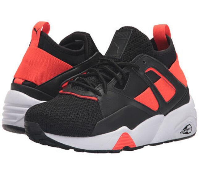 hombre Puma Rainbow Hypernature casuales  zapatos Leather  Zapatillas  casuales Negro Trainers e7f5c6
