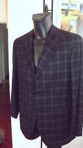Caruso-Parma-Sartoriale-Handgefertigt-Wolle-50-840-00-Flanell-Kader-Blau