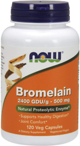 NOW Supplements, Bromelain (Natural Proteolytic Enzyme) 2,400 GDU/g - 500...