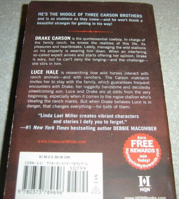 The Carsons Of Mustang Creek Always A Cowboy 2 By Linda Lael Miller