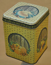 Metal Tin Can Box Container Gift With Lid Fruit Yellow Princeton Industries Corp