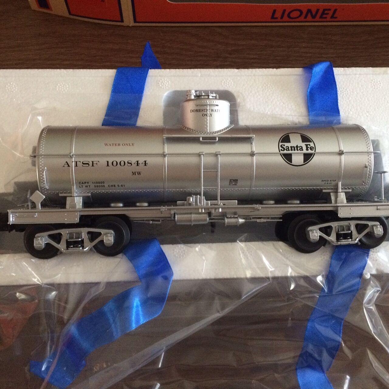 Lionel 27409 Atsf 8000 galones tanque de agua coche nuevo en caja