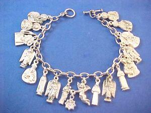 Details about Custom Religious Catholic Saint Medal Charm Bracelet FIGURE  Medals 8 5