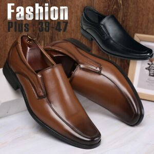 Men-039-s-Casual-Oxfords-Wedding-Leather-Shoes-Pointed-Toe-Formal-Office-Work-Shoes