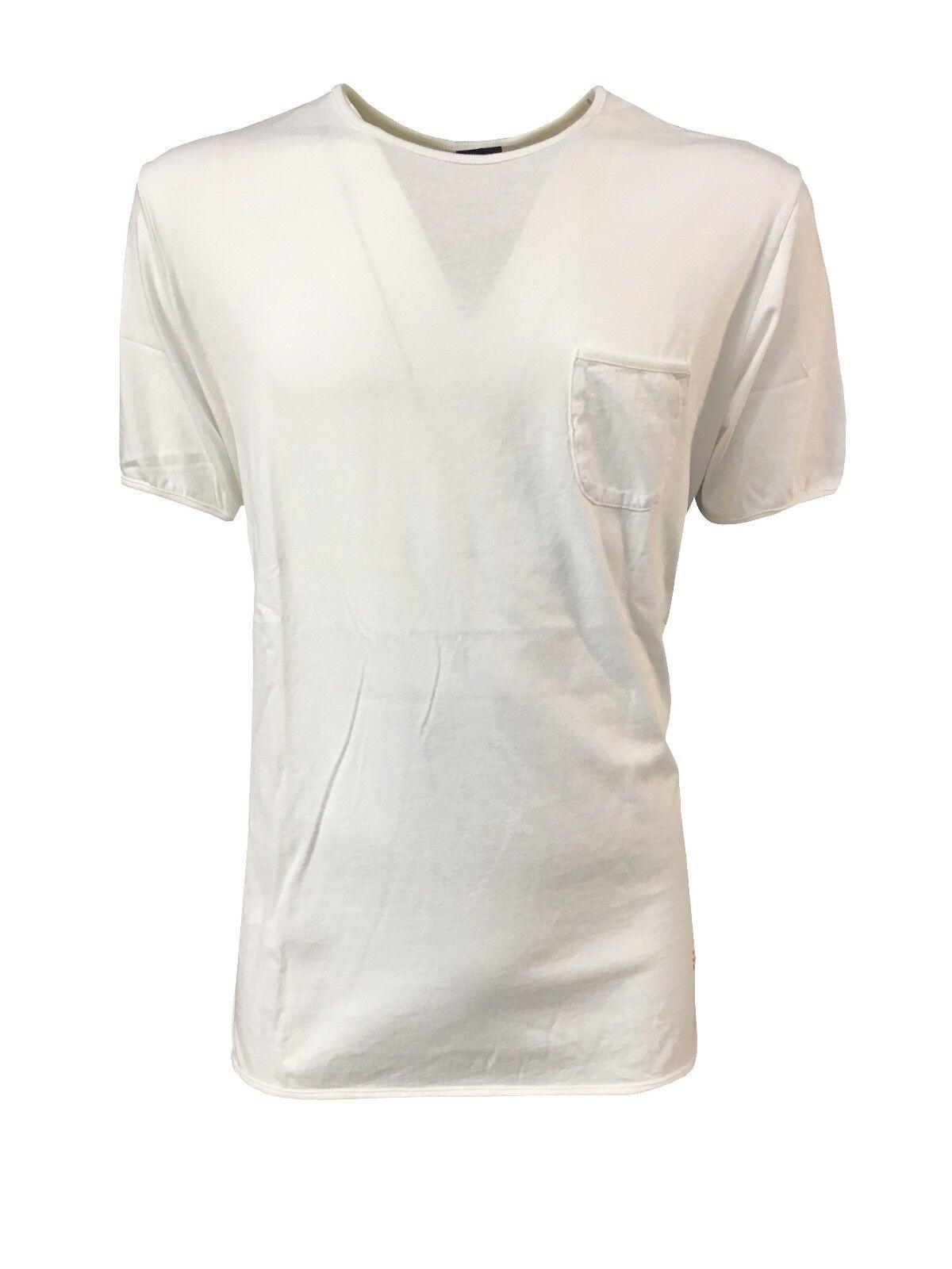 (+)PEOPLE t-shirt maniche corte con tasca 100% cotone MADE IN ITALIA XL-IT 52