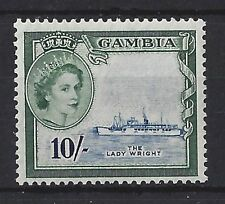 GAMBIA.QUEEN ELIZABETH II.(1952-NOW).10/-..SG184..VERY CLEAN & TIDY..MH...(ED87)