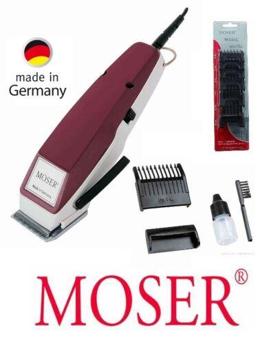 Moser Haarschneider EDITION1400 bordeaux 6 Aufsätze Haarschneidemaschine 42101