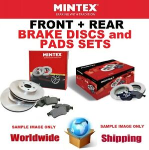 MINTEX FRONT + REAR BRAKE DISCS + brake PADS SET for MG ZT- T 160 2001-2005