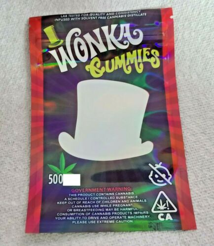 Gummy//Anti Moisture Packaging *Fast Shipping* NEW Willy Wonka 500MG