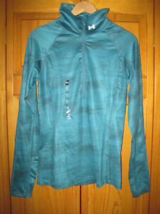 Under-Armour-Cold-Gear-Fitted-1-2-zip-pullover-shirt-women-039-s-S-running-NWT-NEW