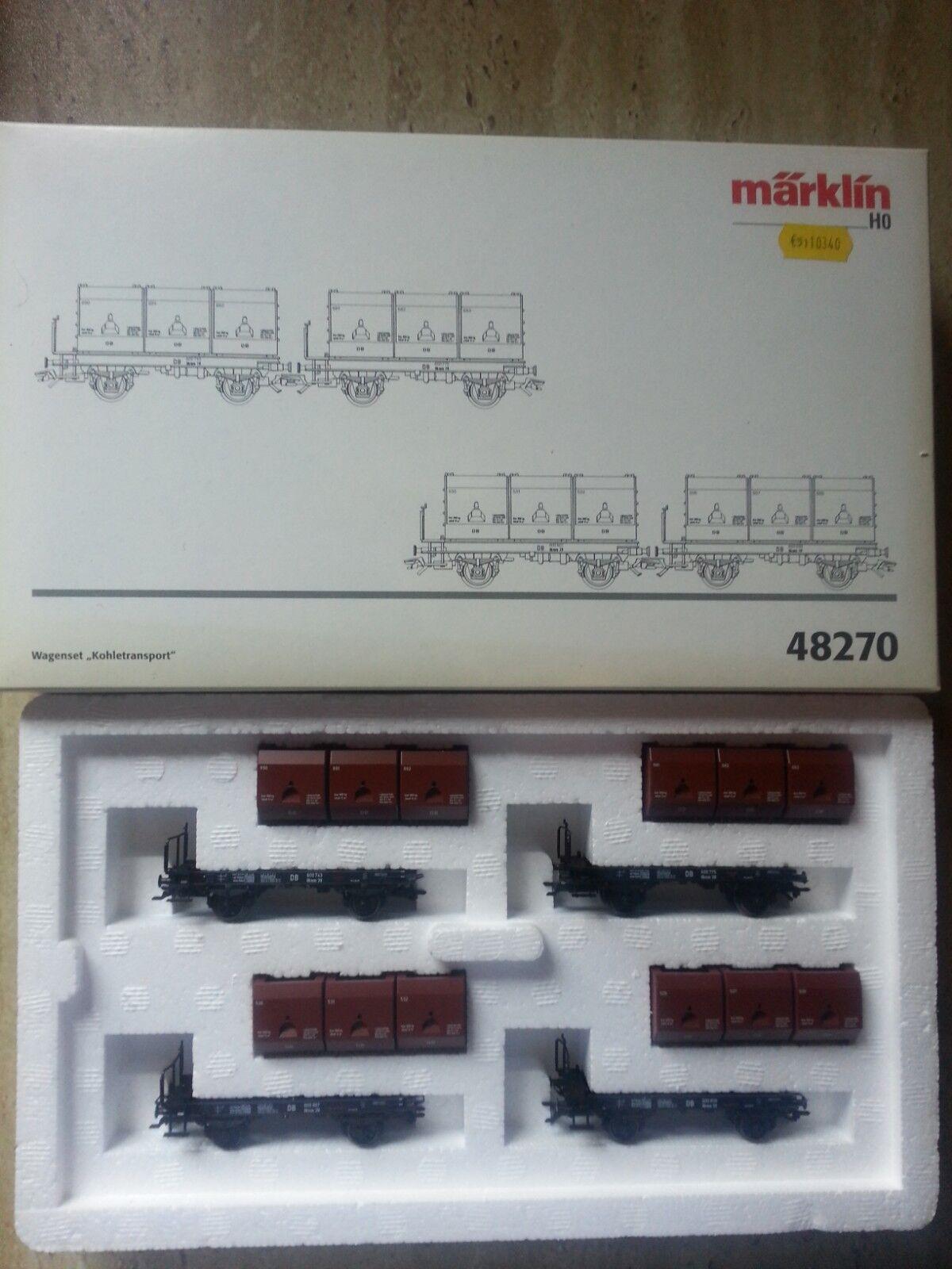 Marklin 48270 Wagenset Kohlen transport