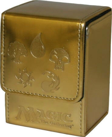 Gold Max Protection BRAND NEW Five Mana Symbols Ion Deck Armor Deck Box