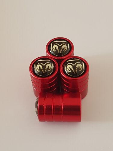 Válvula de coche Dodge Plata Rojo De Lujo Rueda de Aleación Polvo Tapas todos los modelos Dart Nitro