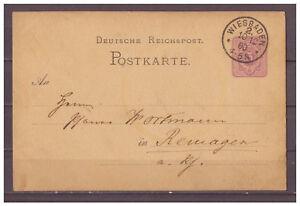Empire-Allemand-Entier-Postal-P-10-Wiesbaden-apres-Remagen-10-01-1880