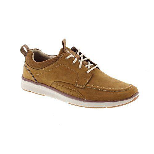 Clarks Men's Orson Bay Tan Nubuck Oxford Casual shoes 26123623