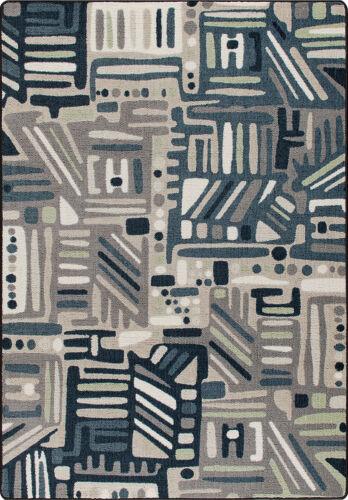 "Approx 3/'10/""x5/'4/"" 4x6 Milliken Urban Order Bayside Modern Lines Area Rug"