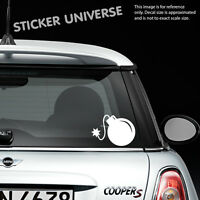 "JDM BOMB with FUSE 5""X7"" Vinyl Die Cut Decal Bumper Sticker Car Window Laptop"