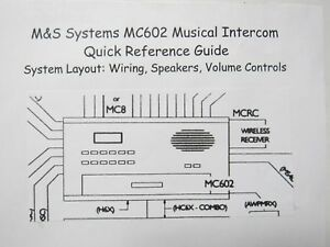 details about mc602 quick reference guide (diagram) m\u0026s home intercom Intercom Wiring Schematic